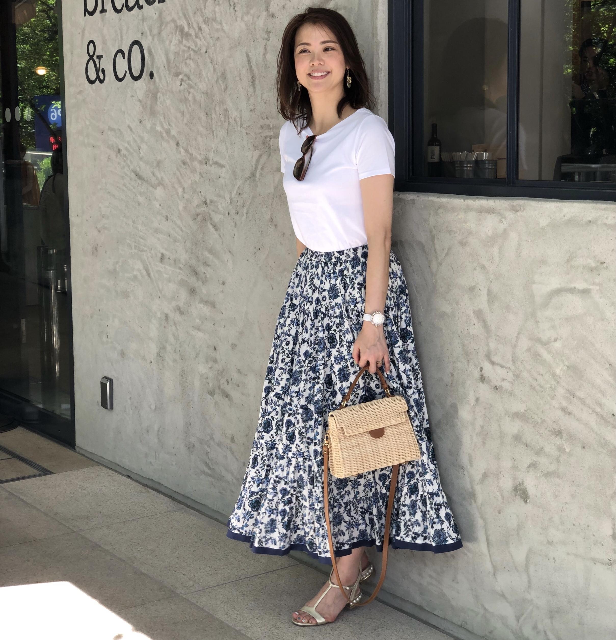 この夏、わたしの定番休日スタイルはマキシ丈スカート!_1_1-1