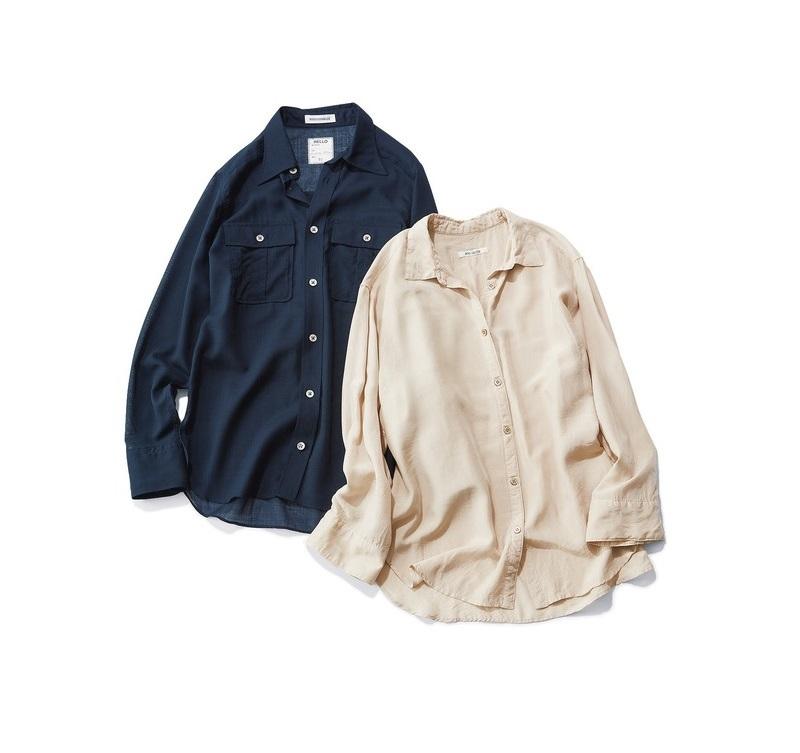 ファッション シアー素材やとろみ素材の女らしいシャツ