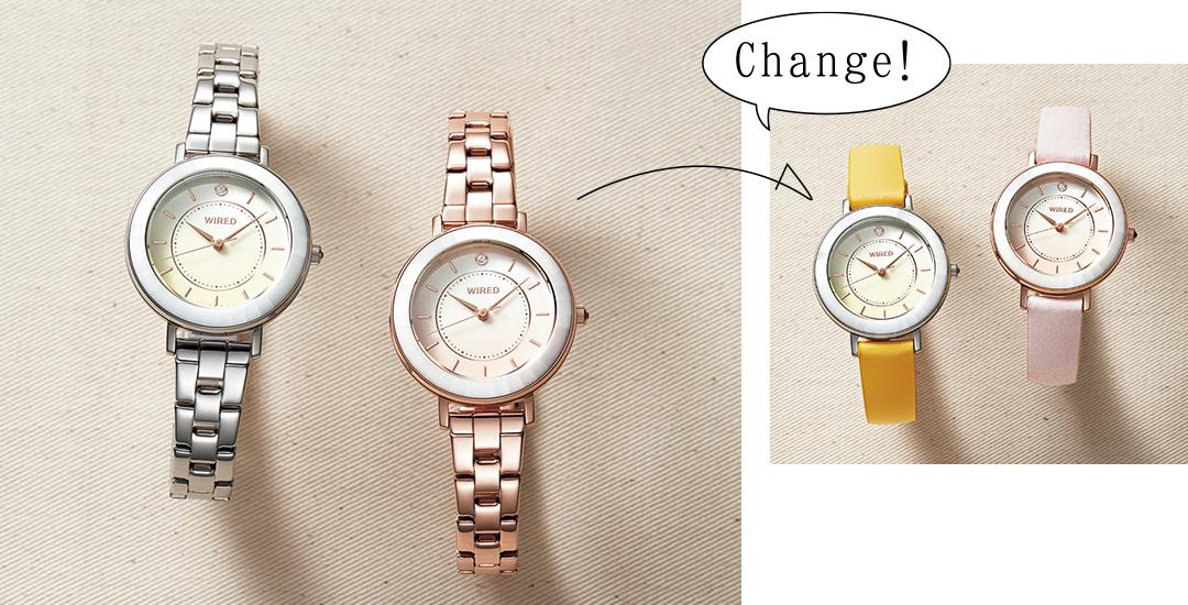 花モチーフのWIRED f(ワイアード エフ)が私の相棒♡ 清楚感も好感度も。決め手は腕時計!_1_9