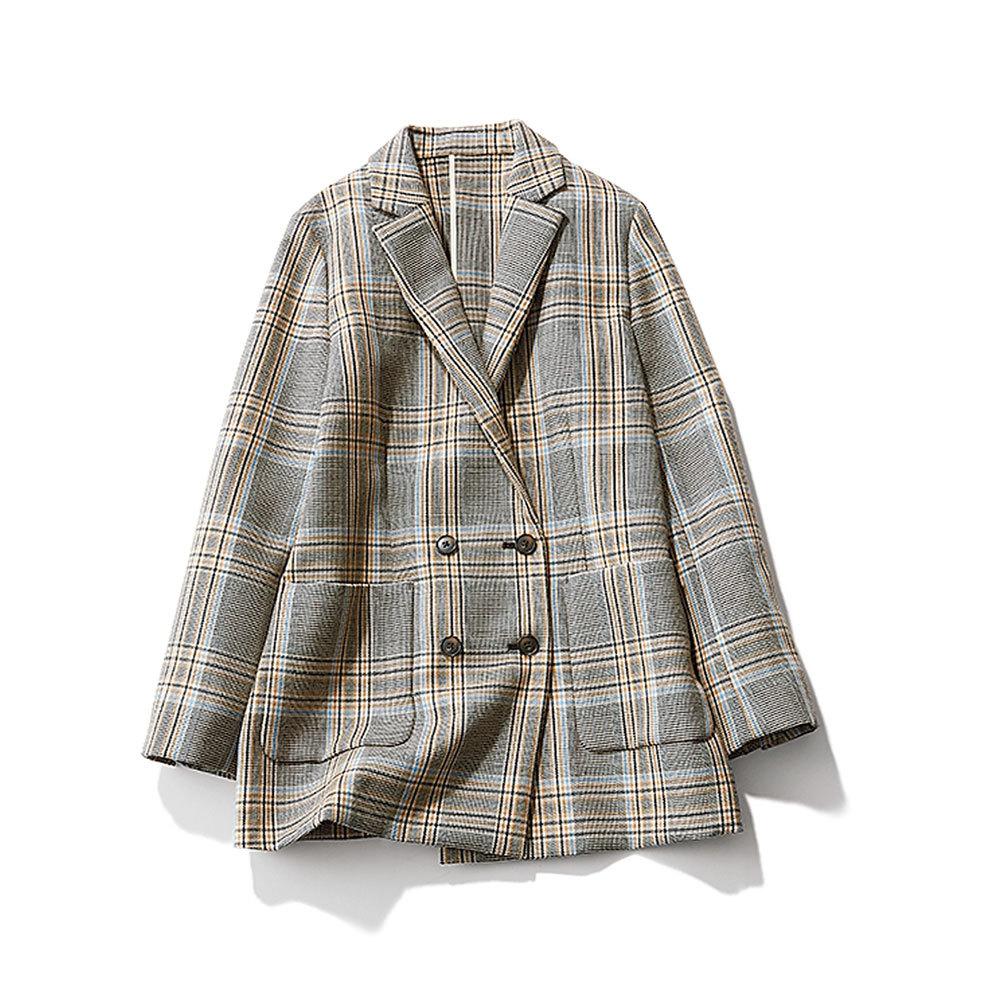 ファッション チェック柄ジャケット