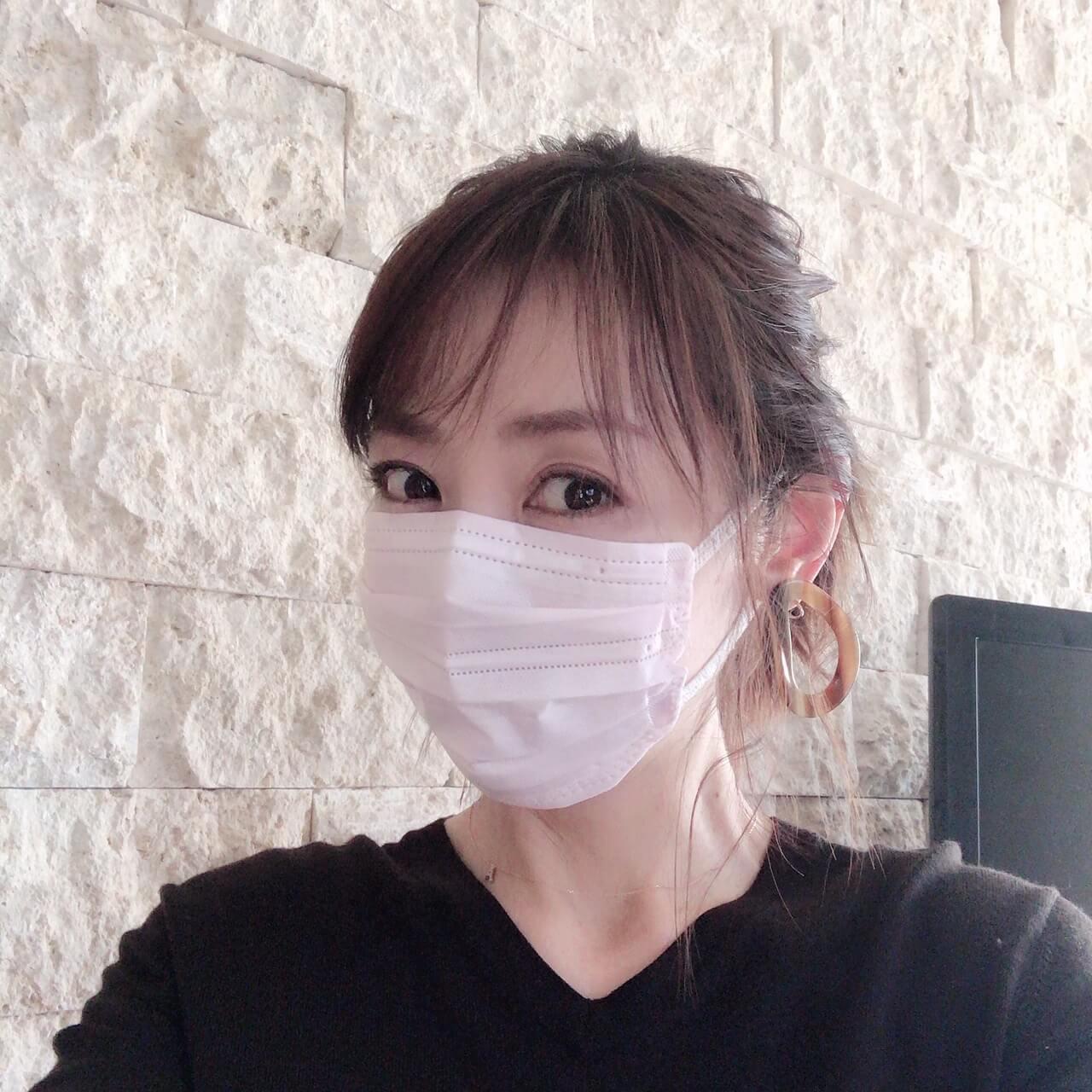 アイリスオーヤマのマスク着画