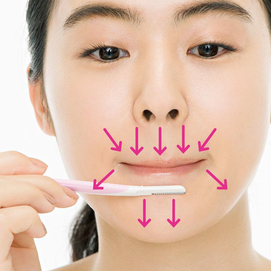 顔のムダ毛の処理方法