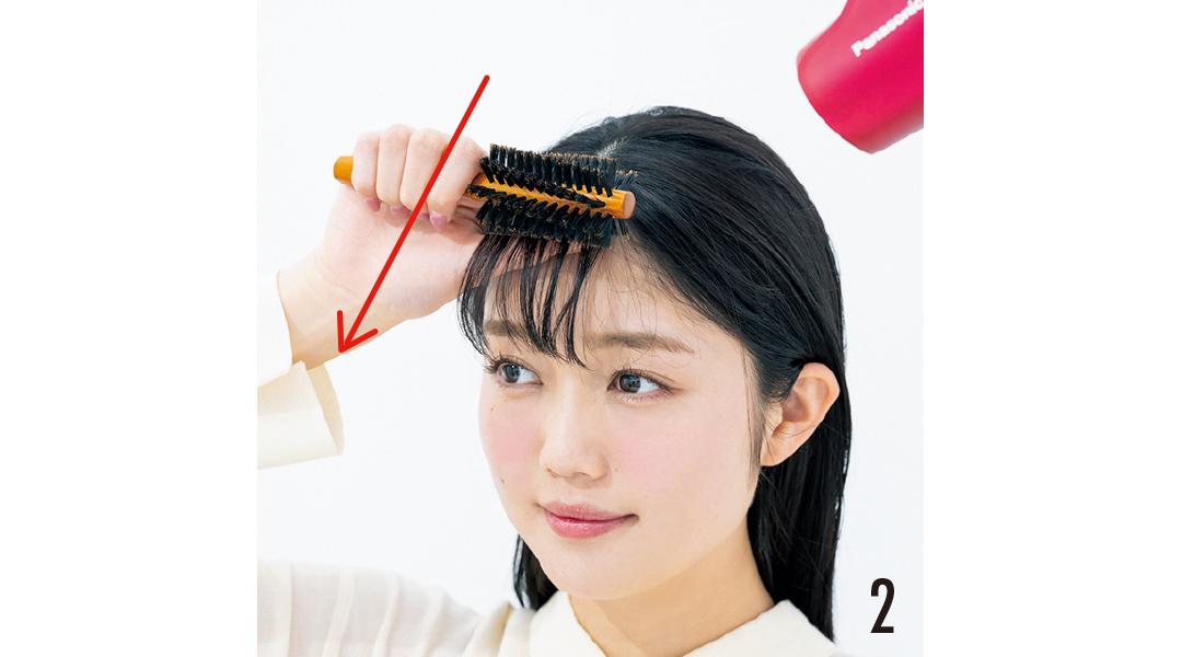 """ヘア崩さない女子の""""うねらない""""前髪ブロー&スタイリング超ていねい解説!_1_5"""