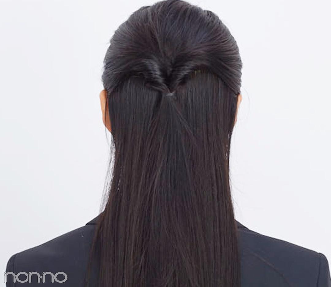 就活の髪型、集団面接で映えるのは「崩れないハーフアップ」だった!_1_2-2