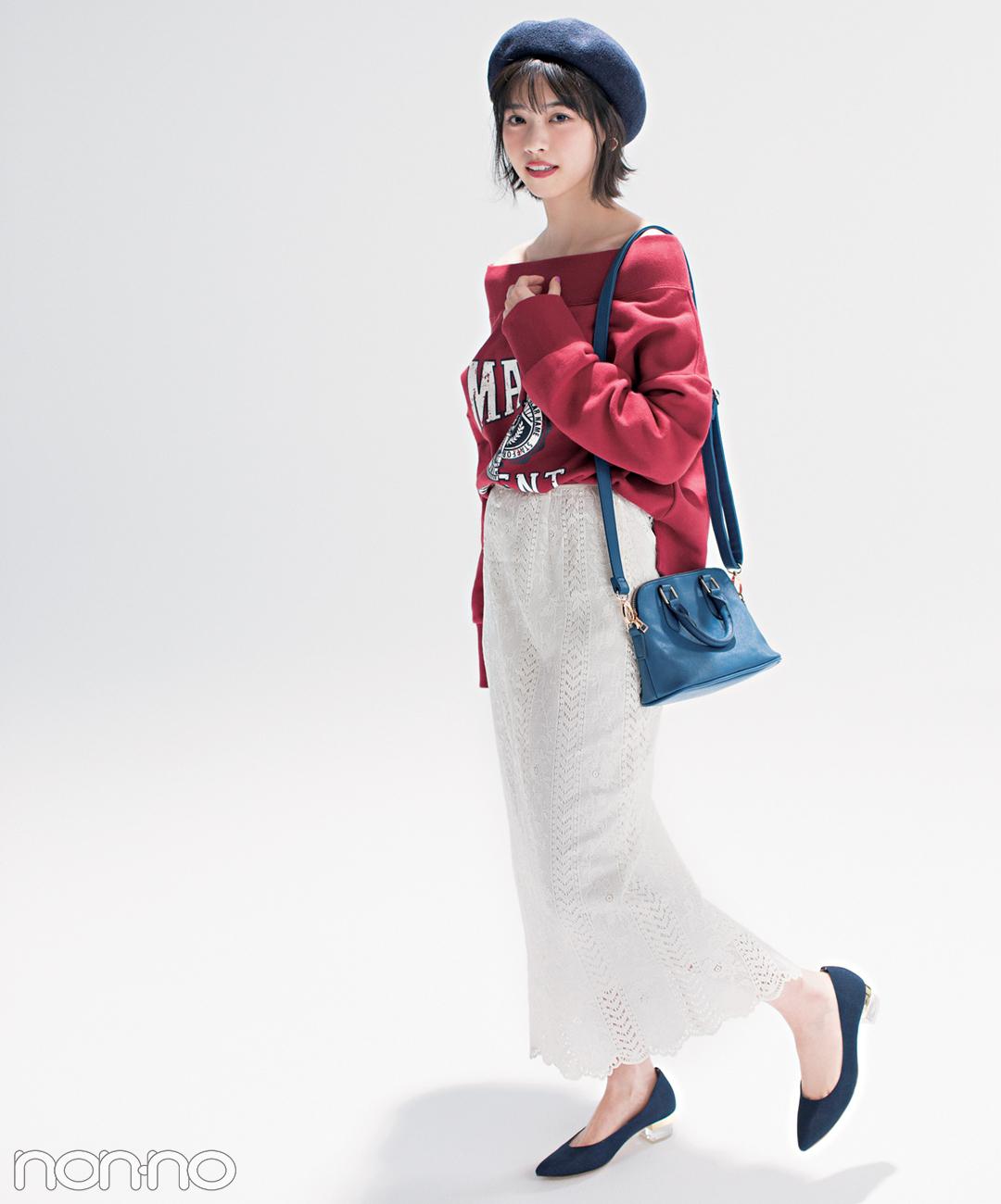 優子・七瀬・まなみんが着る! おしゃれ度急上昇♡ 赤×ネイビー×白の春コーデ4選_1_3-3