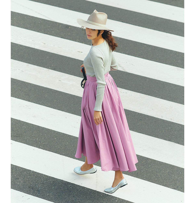 グレートップス×ピンクスカートコーデ