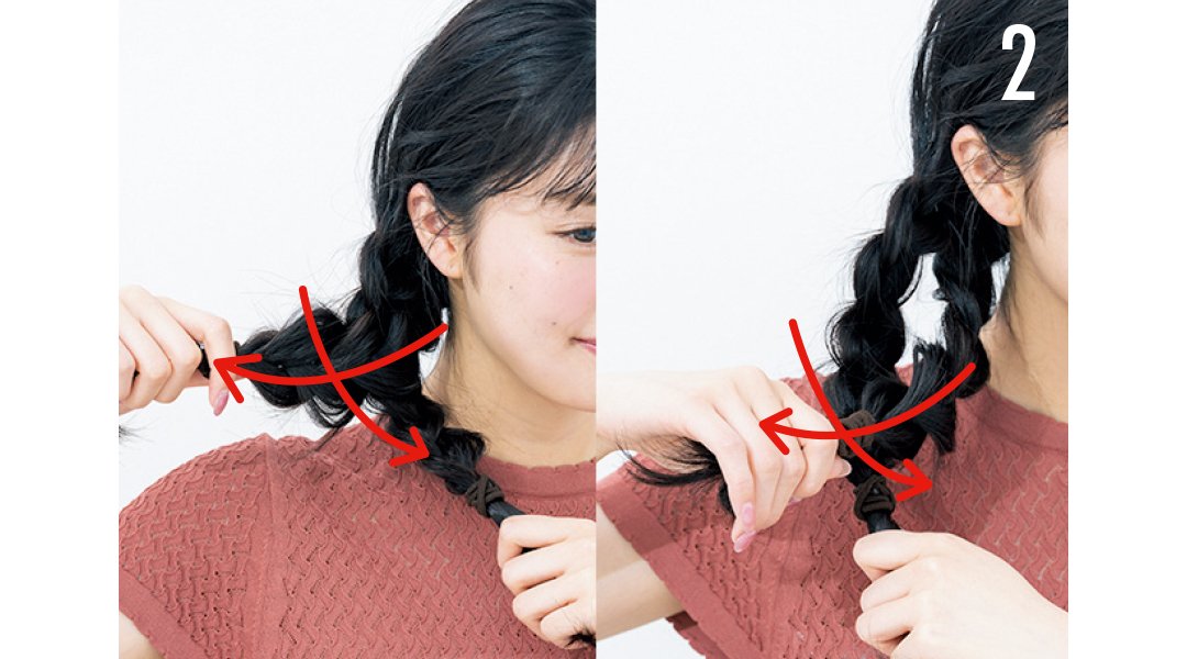 ヘア崩さない女子の三つ編み技★ 抜け感があるのに崩れない!_1_5