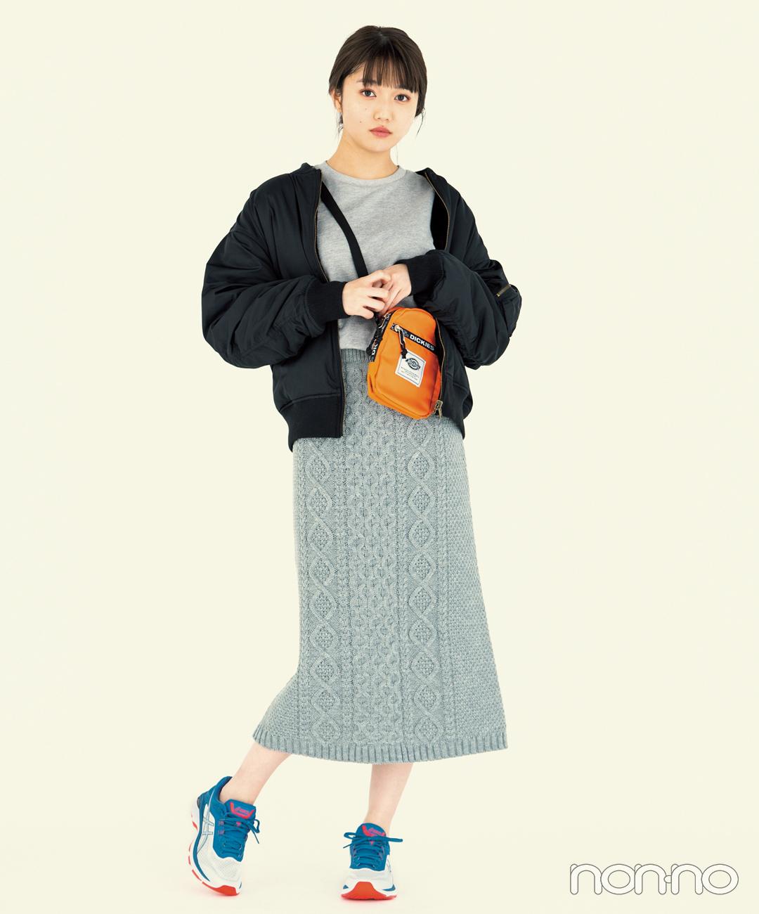 【タイトスカートコーデ3】スウェット×タイトスカート