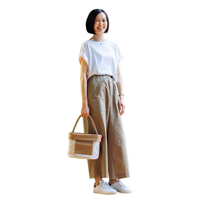 スタイルをカバーして大人カジュアルを実現!「Tシャツ×ワイドパンツ」 五選_1_1-4