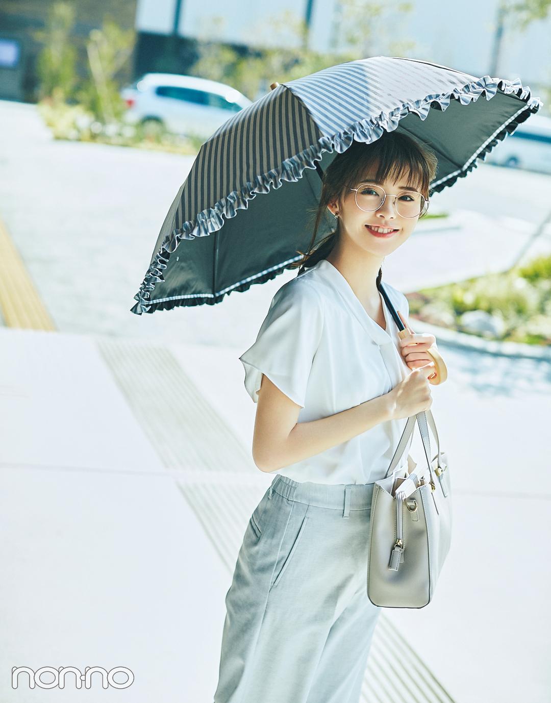 通勤UV対策★ 晴雨兼用傘&2wayサングラスの名品はコチラ!【夏のオフィスコーデ】_1_3
