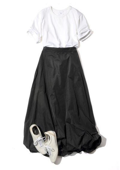 地曳いく子×eclat バルーンスカート ¥23,100(税込)
