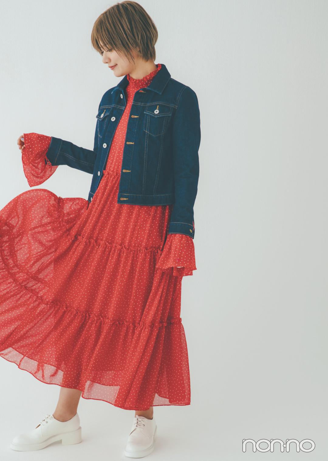 貴島明日香の赤×白×ネイビーがお手本! 好感度&おしゃれ感どっちも♡  _1_3-5