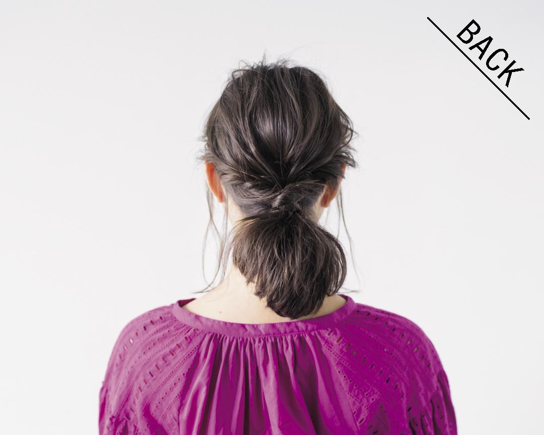 ミディアムヘアの#彼女感なまとめ髪♡ 簡単&モテる一つ結びはこれ!_1_3-4