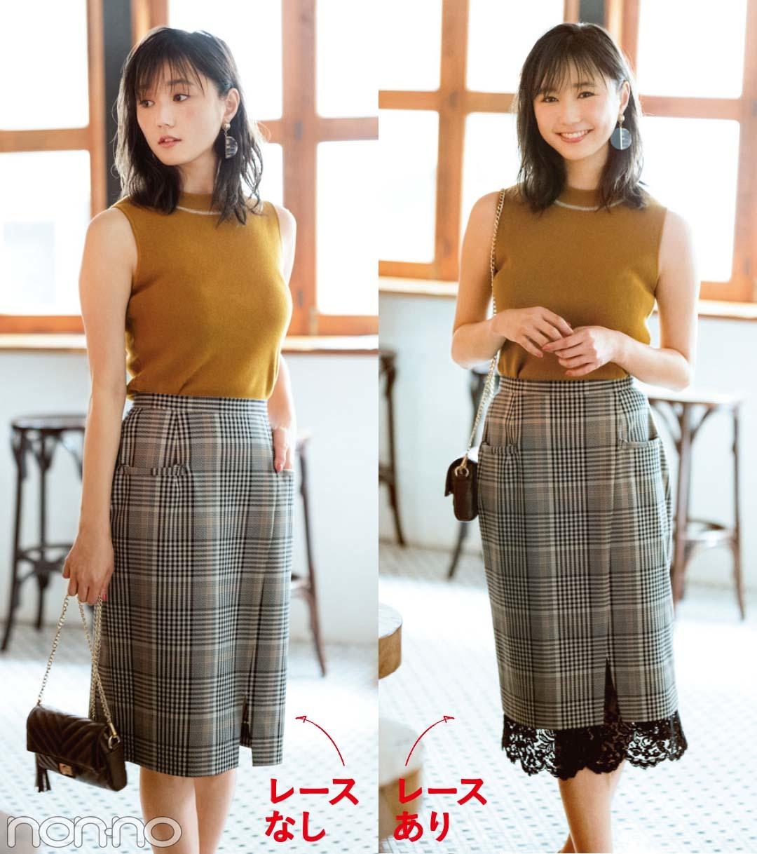 秋の新着♡ 1枚で2通りに着られるスカート&パンツ3選!_1_2