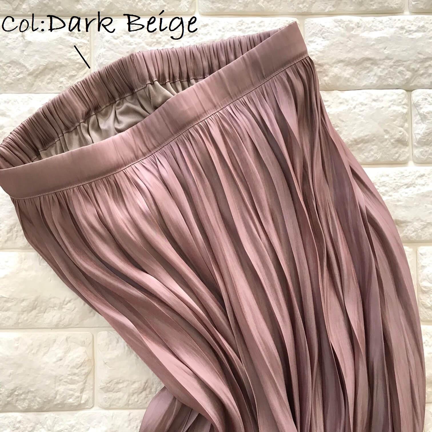 アズールバイマウジーのピンクスカート生地アップ画像