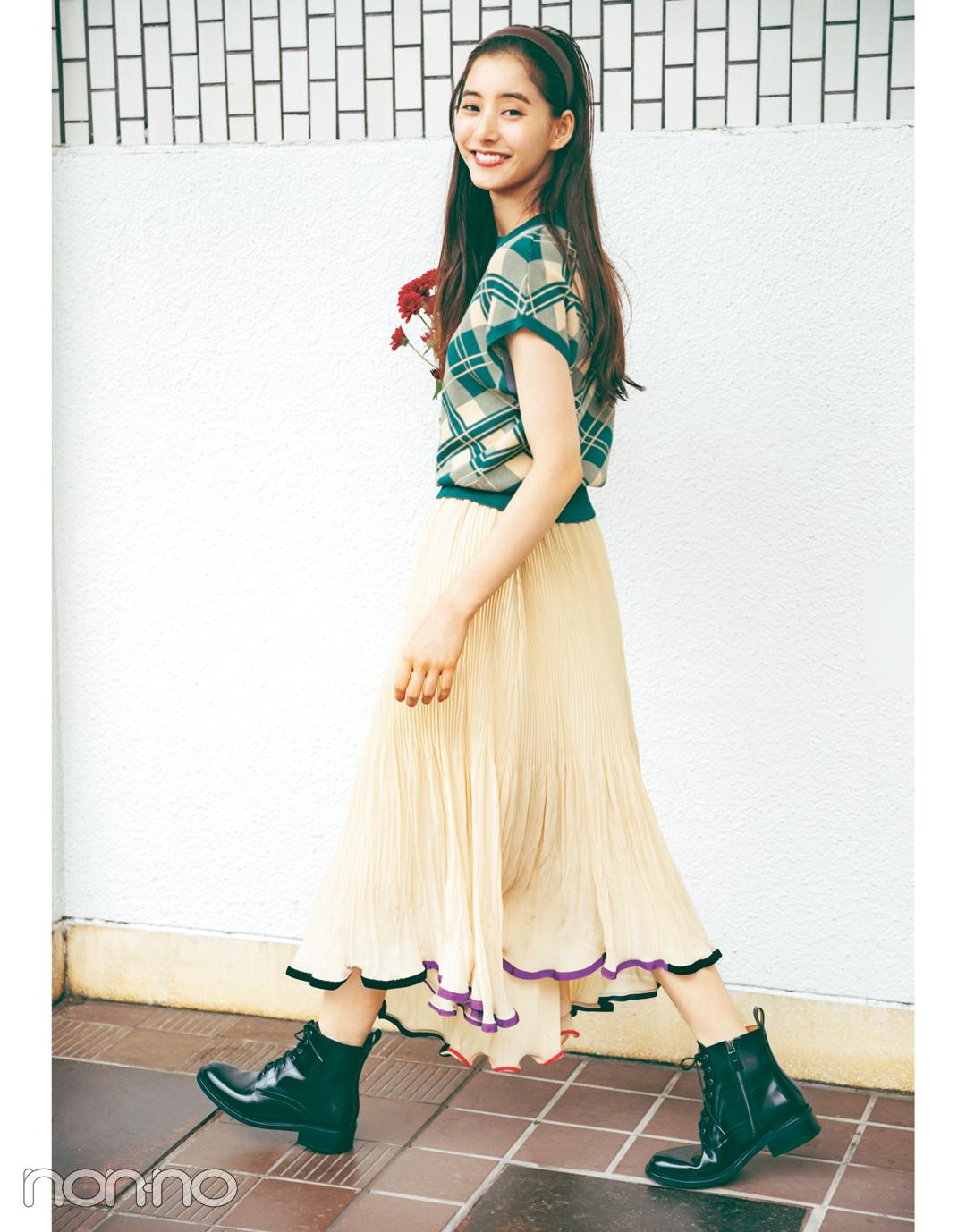新木優子×新しいこと始まる秋服。「スカートはロング丈で華やかに」_1_4