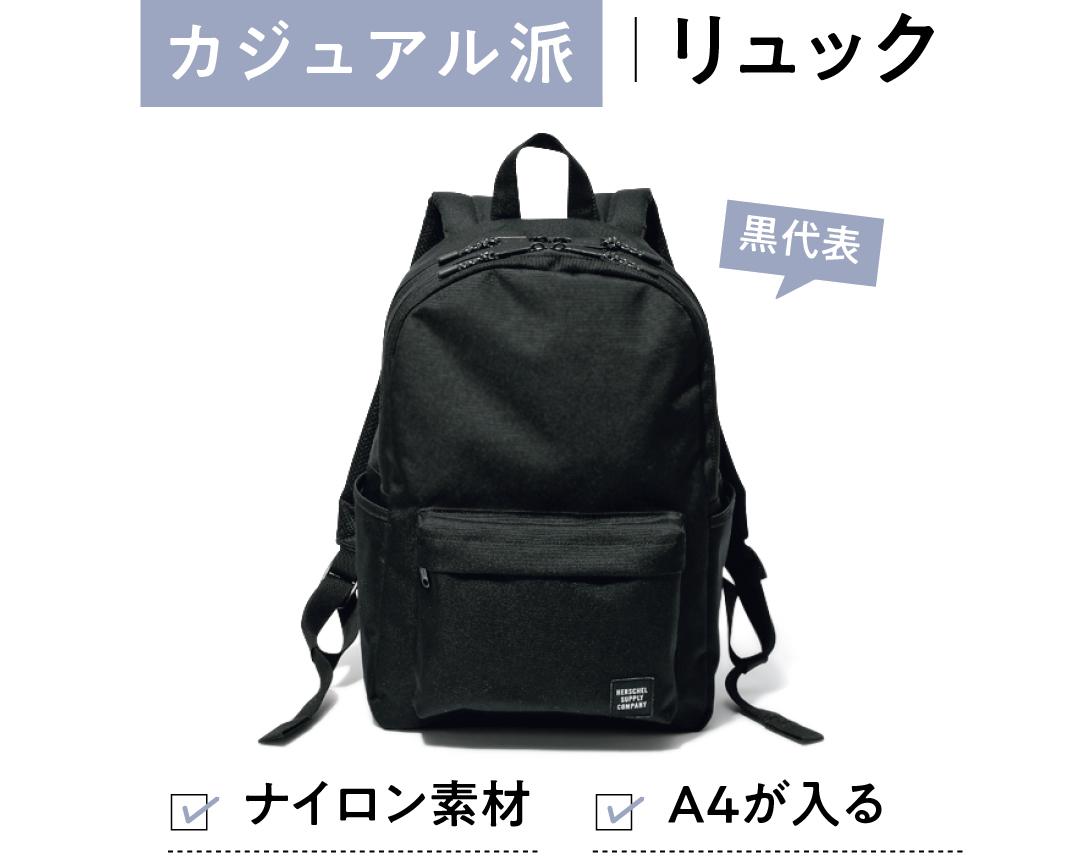 カジュアル派の毎日バッグは「黒リュック」が鉄板! _1_3