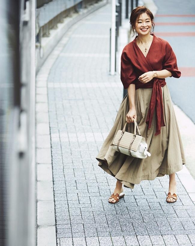 三尋木奈保さんの2020年夏のファッション