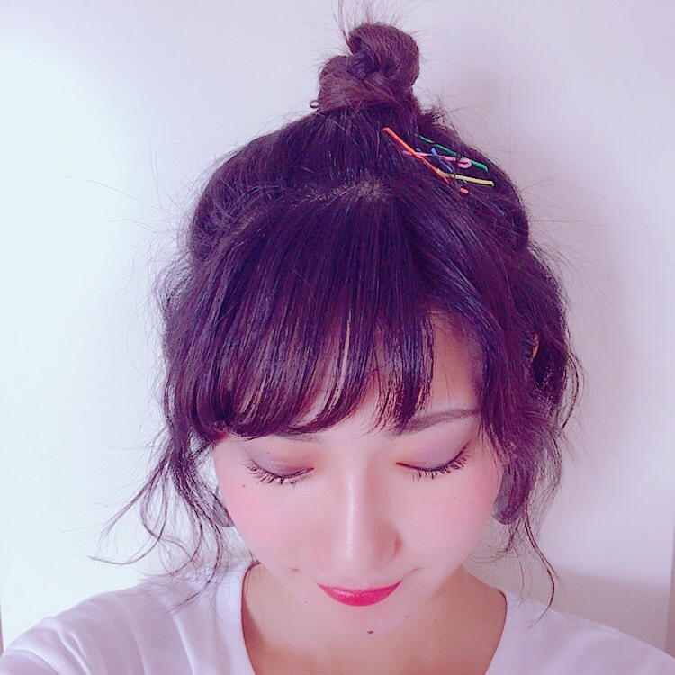 カラーピンを使った夏のイベントヘア♪( ´▽`)_1_6