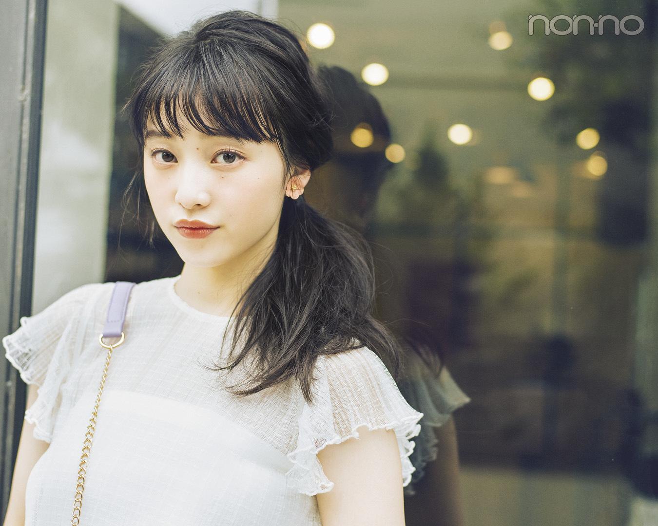 ノンノモデル山田愛奈が美しすぎる! ロングの#彼女感なサイドまとめ髪_1_1