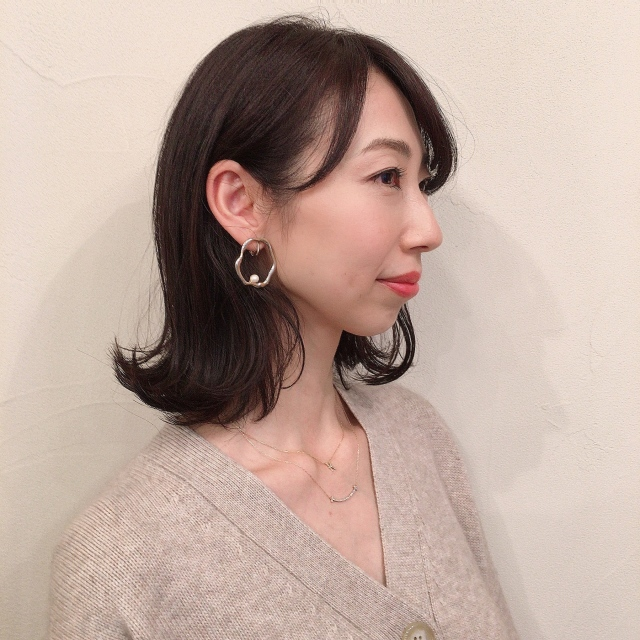 【40代髪型】簡単にヘアースタイルが決まる‼︎大人のくびれミディアム_1_2-2