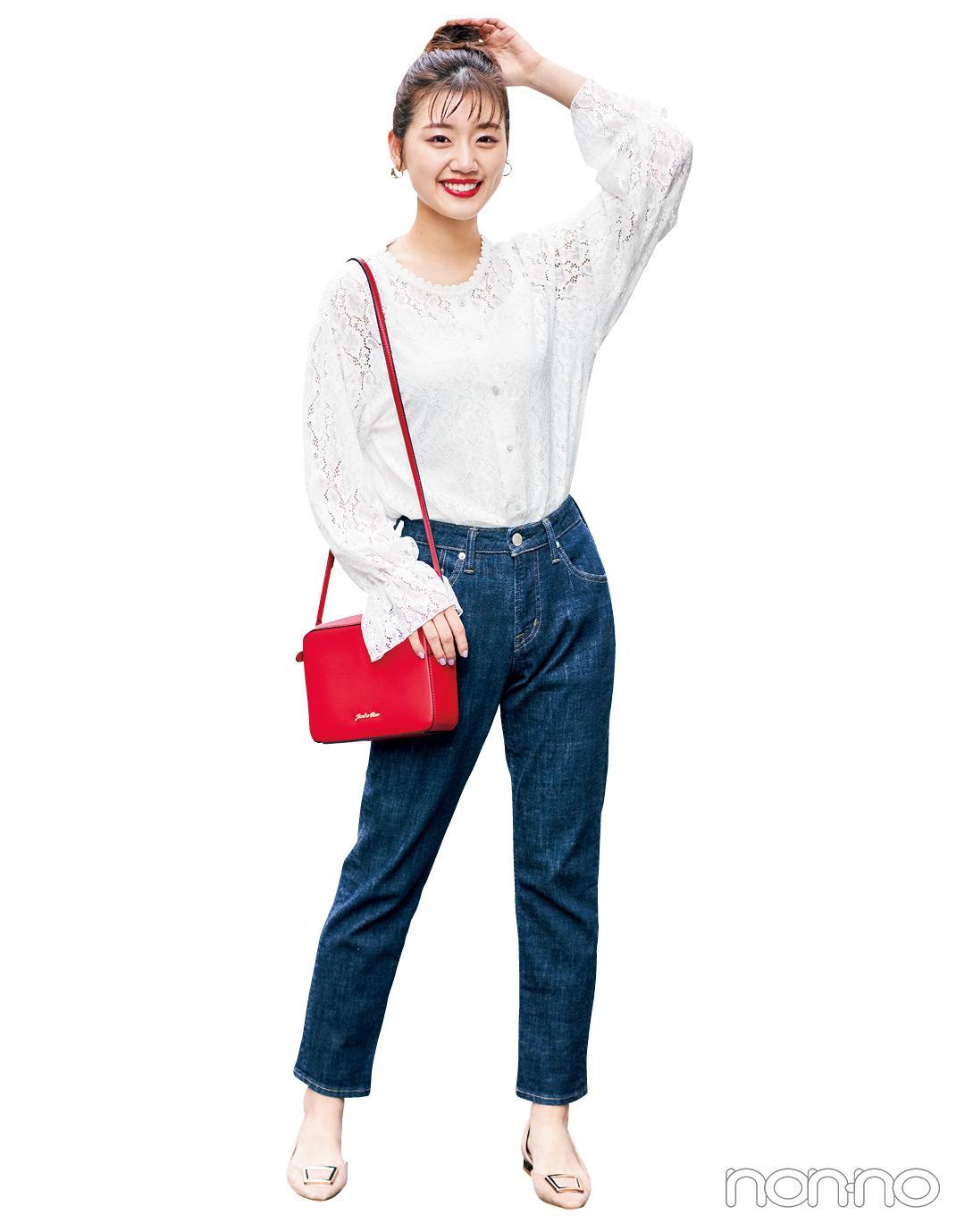 【大学生のための着倒しアイテム】甘めの白ブラウスはここまで使える!_1_8