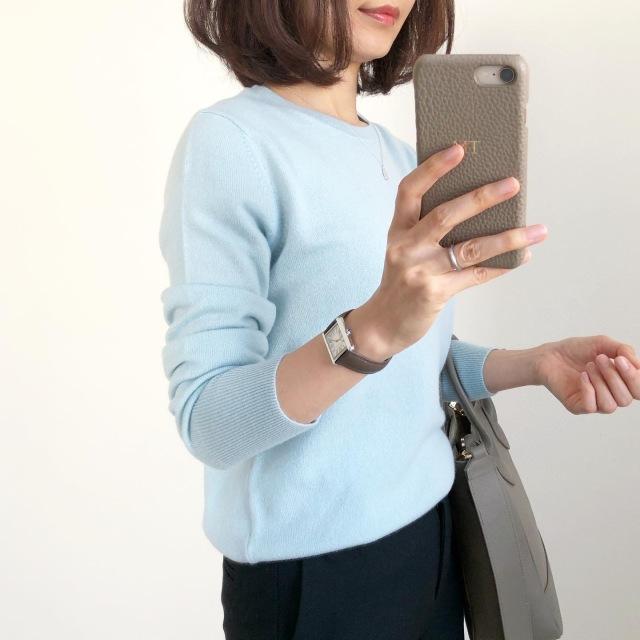 『UNIQLO』カシミヤセーター着回し【tomomiyuコーデ】_1_2