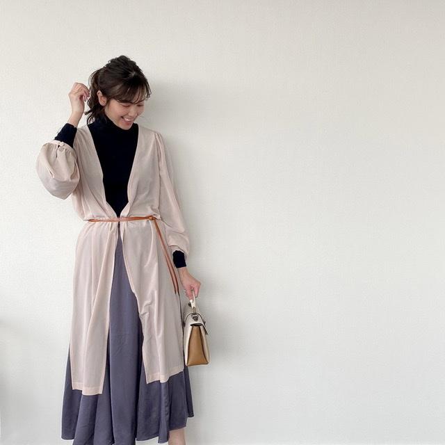 私のきれいめコーデ♪〜サテンスカート〜_1_2