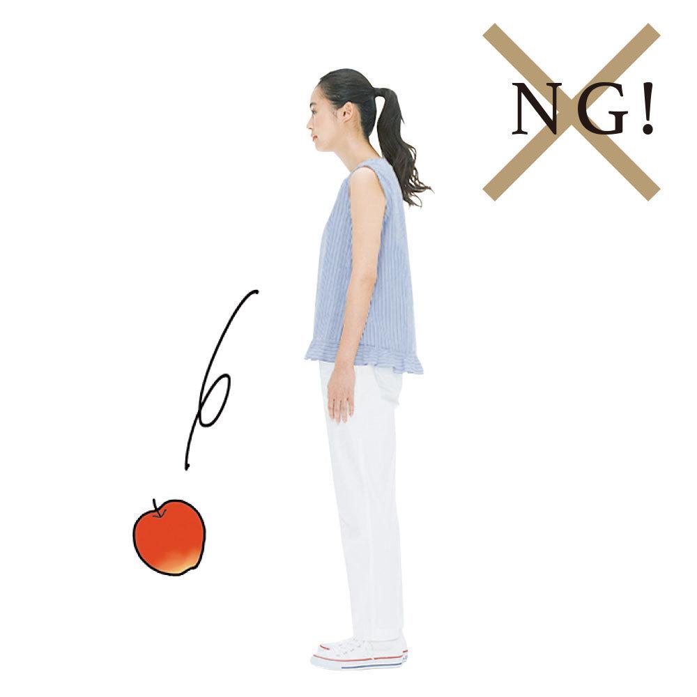 立ち姿勢の見直しNG例