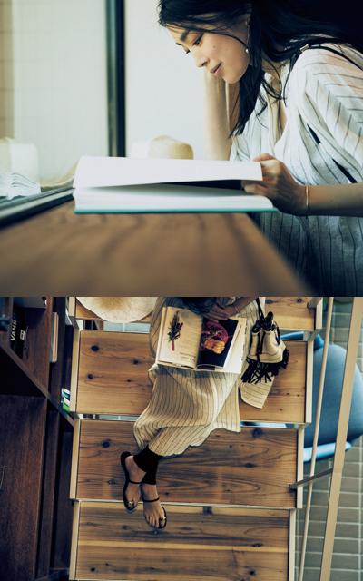 宿でのひとときはレーシーなスカートで女らしく【パートナーと過ごす週末カジュアルagain】_1_2