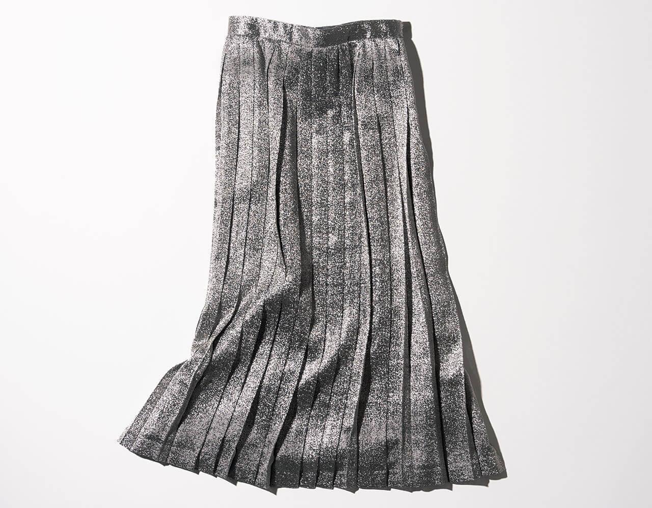 イレーヴのシルバープリーツスカート