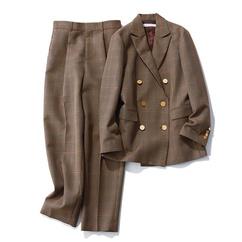 ファッション 秋トレンド ブラクトメント チェック ジャケット