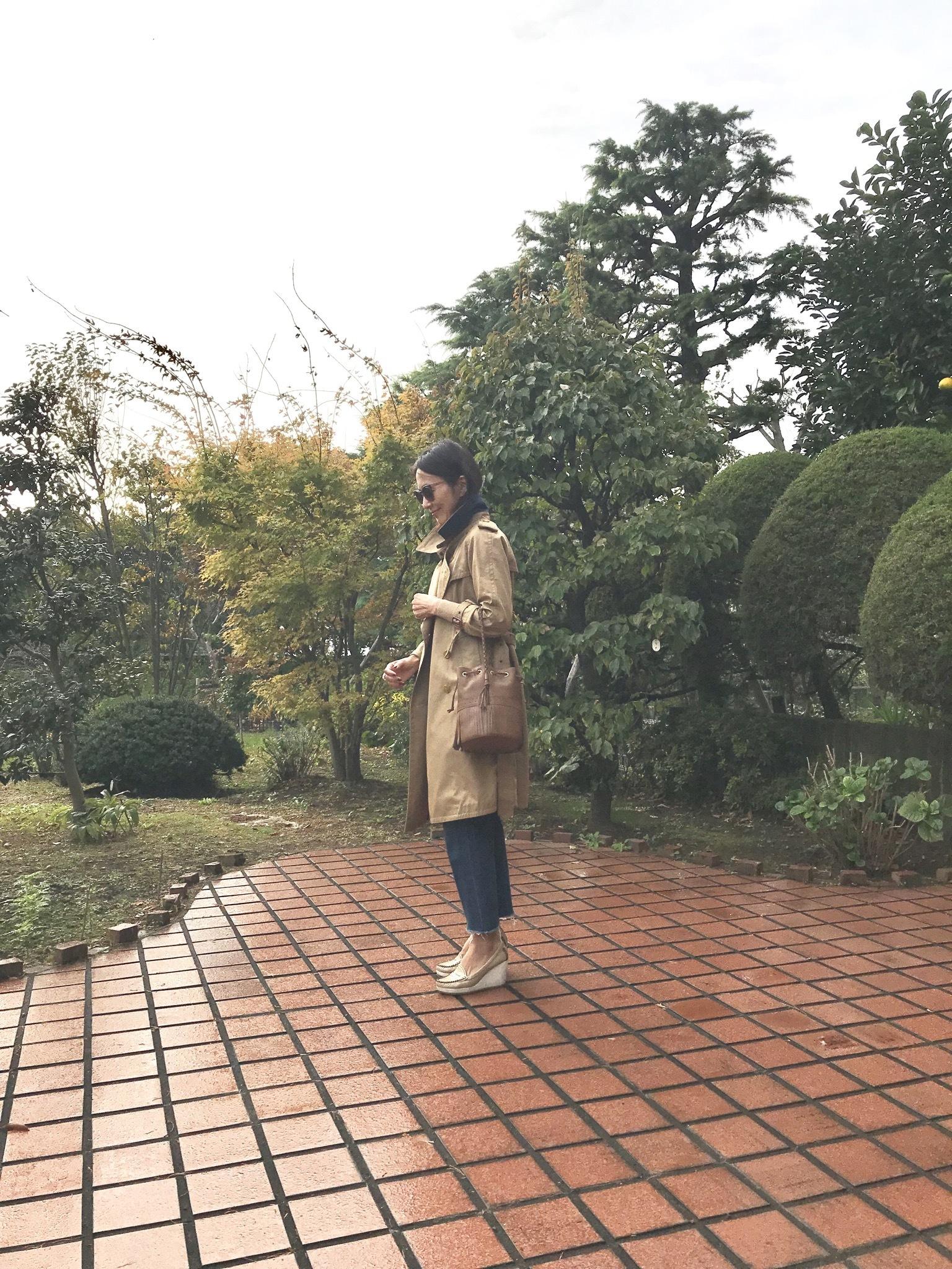 お気に入りのトレンチコートで京都へ♪_1_2