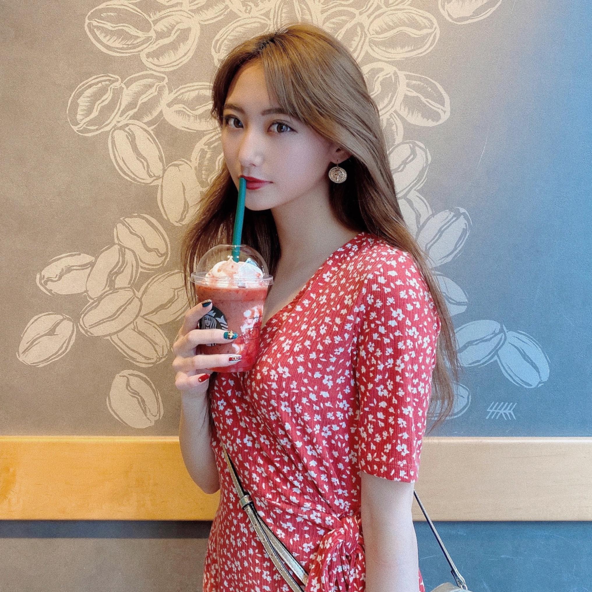 【Starbucks】ゴロッと イチゴ フラペチーノ⸜❤︎⸝_1_1