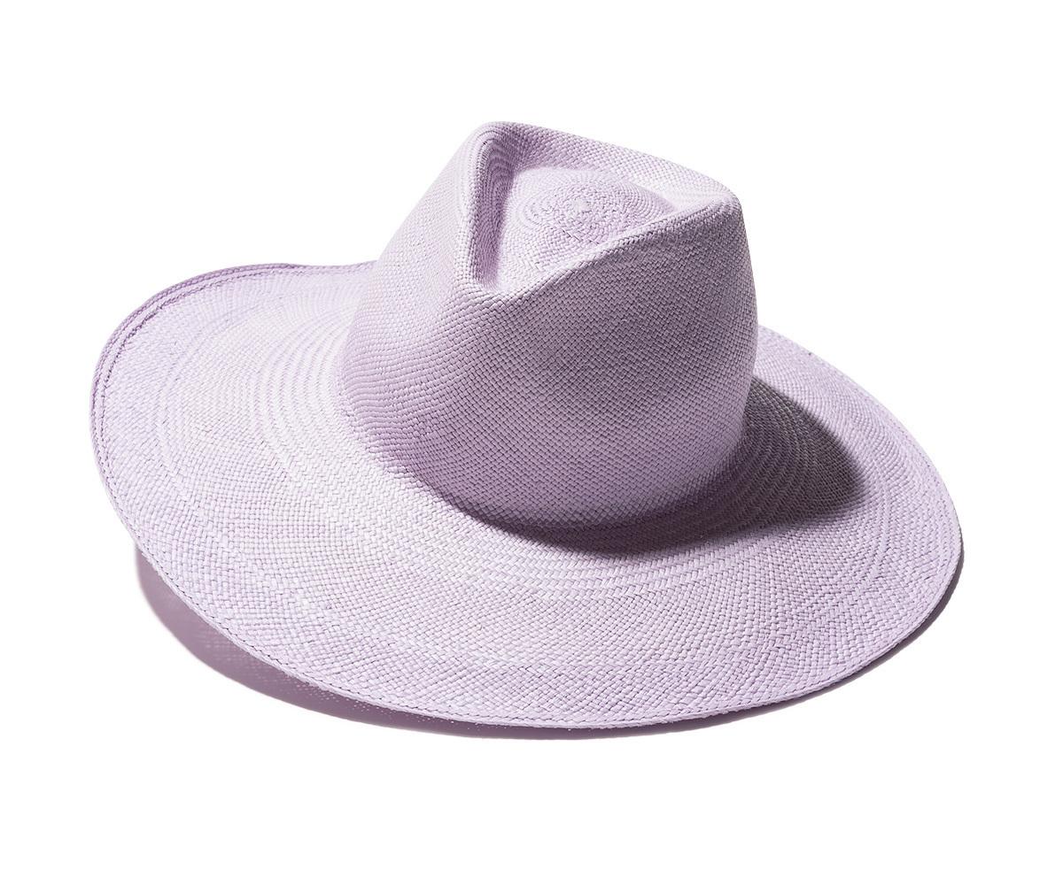 パープルの帽子