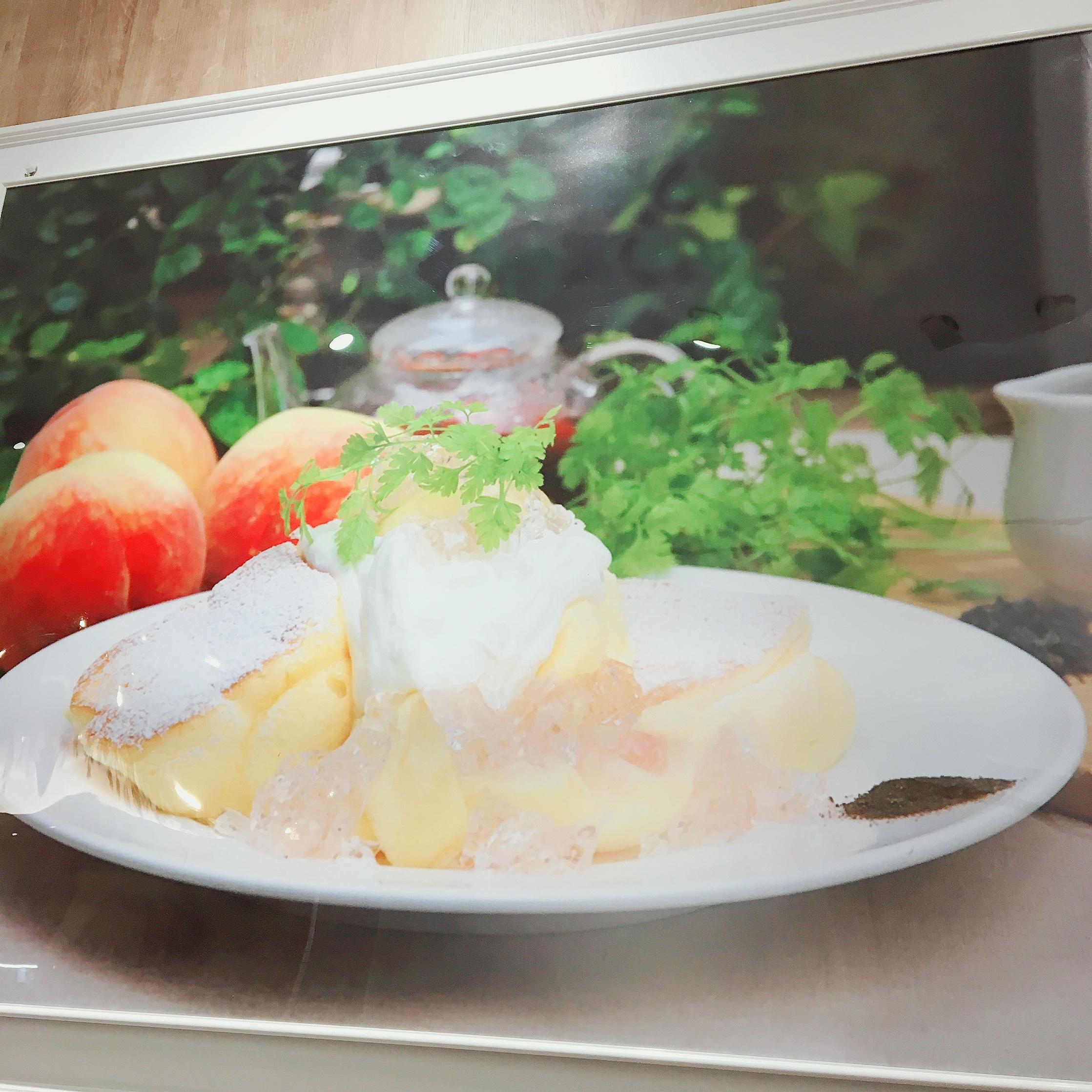 【幸せのパンケーキ】期間限定!国産白桃のローズヒップピーチパンケーキ♡_1_1