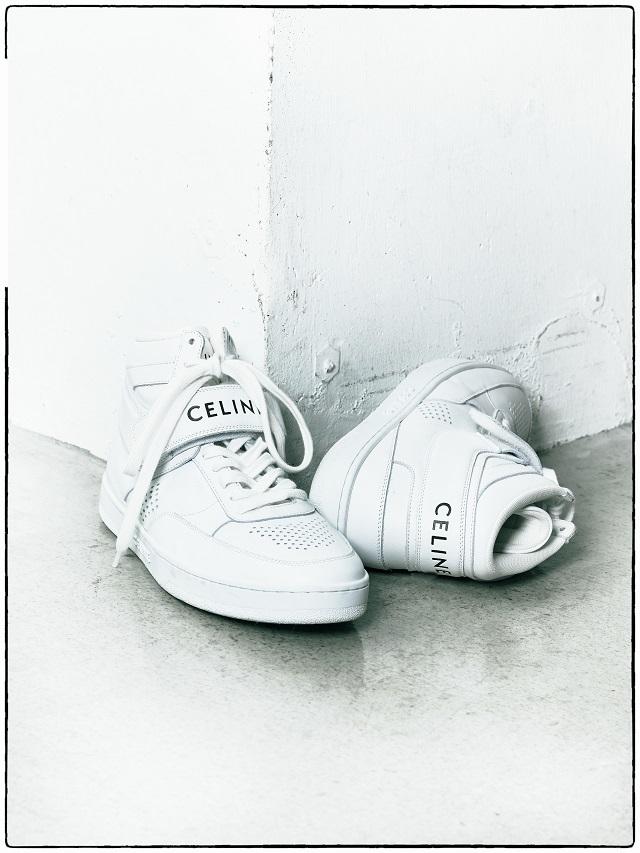 セリーヌのハイトップスニーカー「CT-03」
