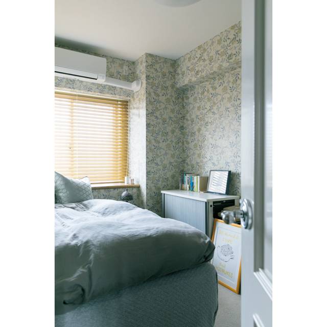 予算内に収めるために、Mさんと母の寝室はそれぞれ壁紙のみ張り替えた