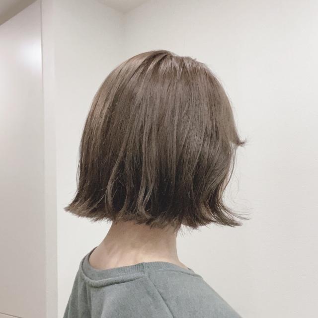 ヘアメンテ☆カラーは透けるアッシュグリーン_1_1