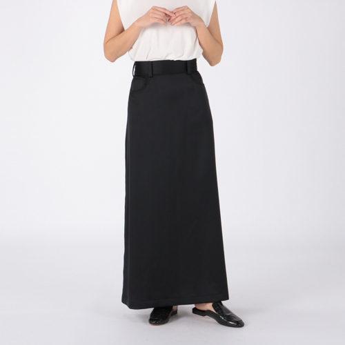 INSCRIRE/Satin Maxi Skirt/¥49,000+税
