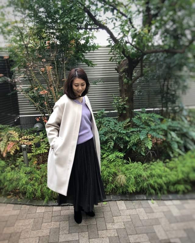 Mila Owenの福袋コーデ続き・黒のドット柄スカート《CFP®認定者ゆっこのファッション》_1_1