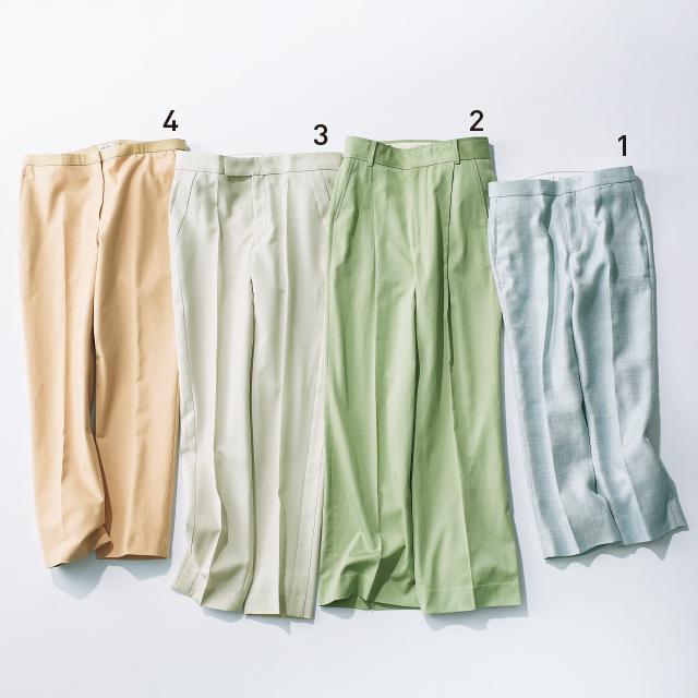 進化したベーシックカラーのパンツ