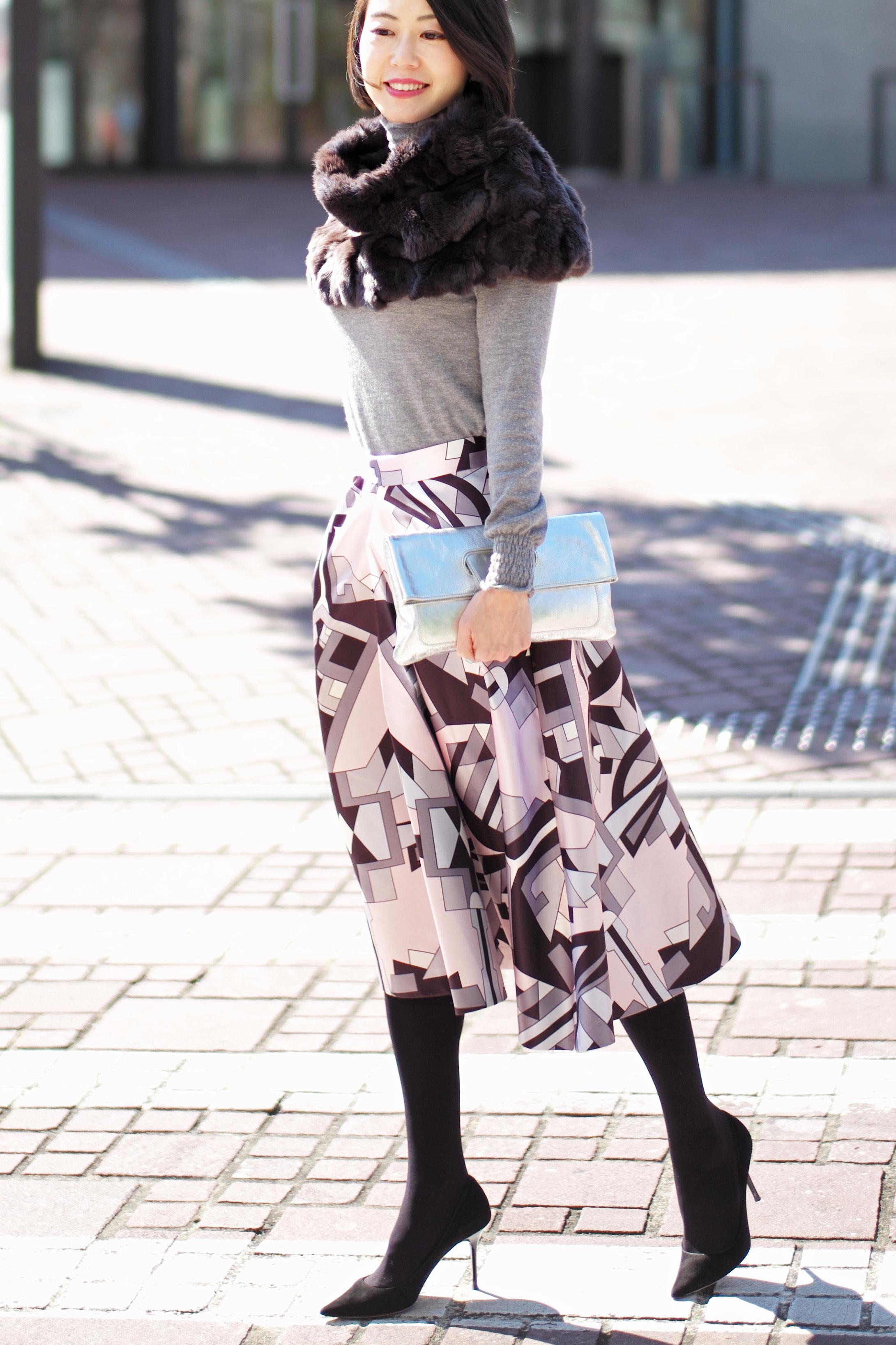 春を先取りしたいから、コーデの主役はきれい色スカート_1_2