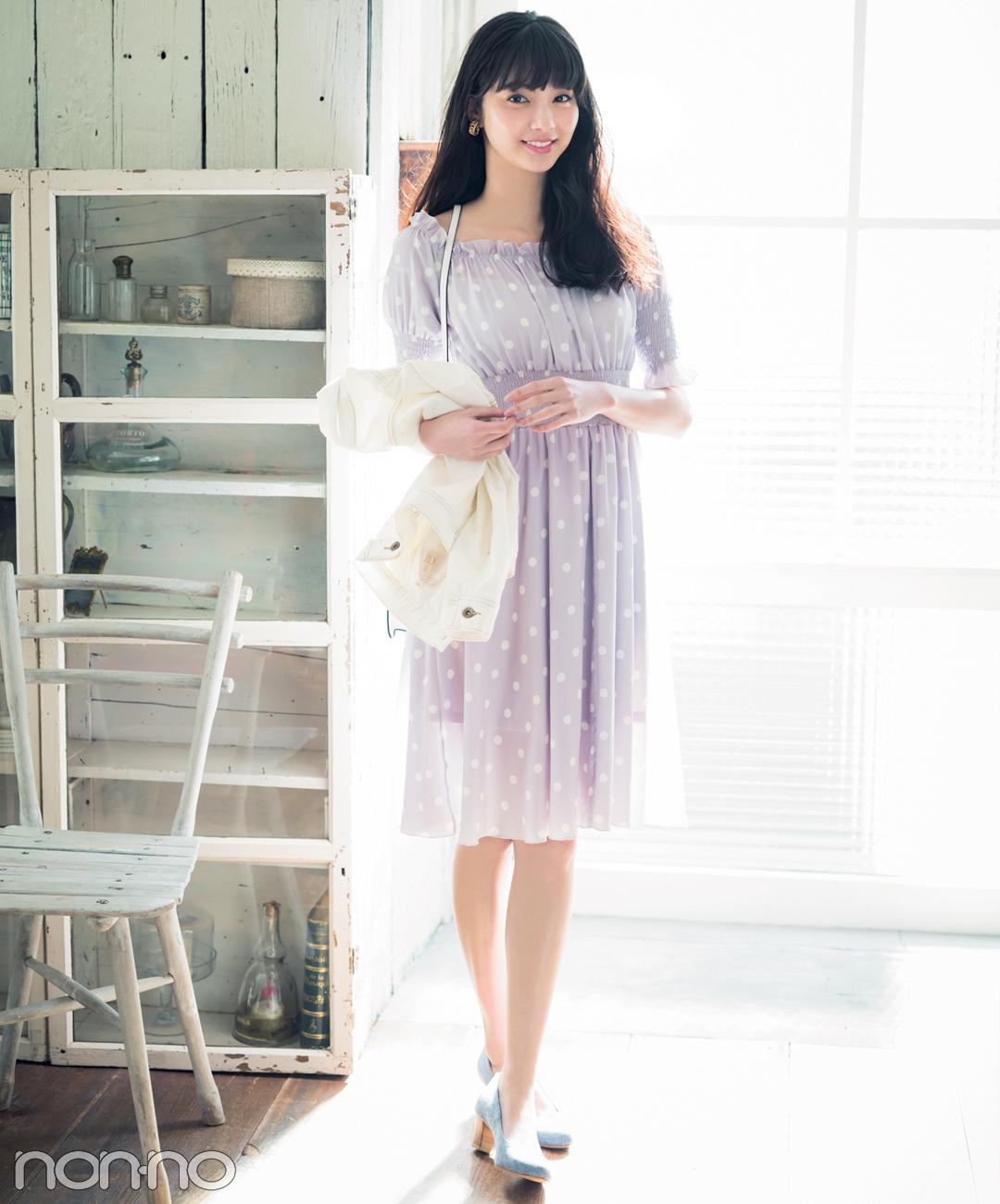 【夏のワンピースコーデ】新川優愛のロマンチックなデートコーデ