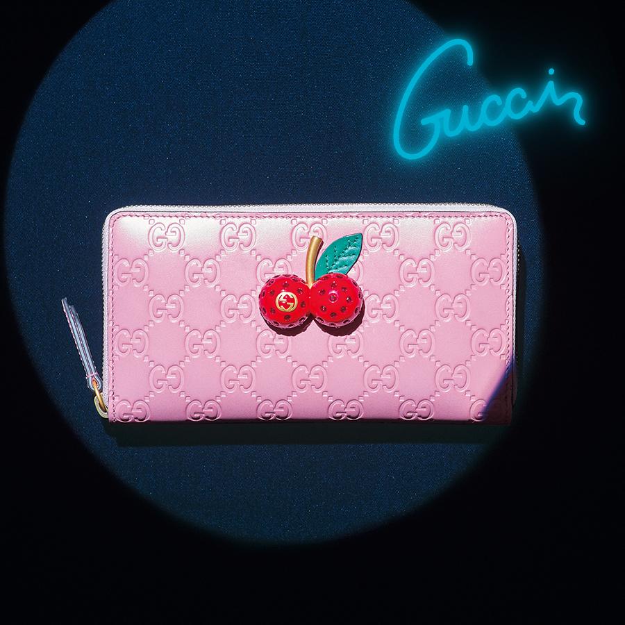 【GUCCI】最高に愛らしいピンク×チェリーをシグネチャーロゴにON