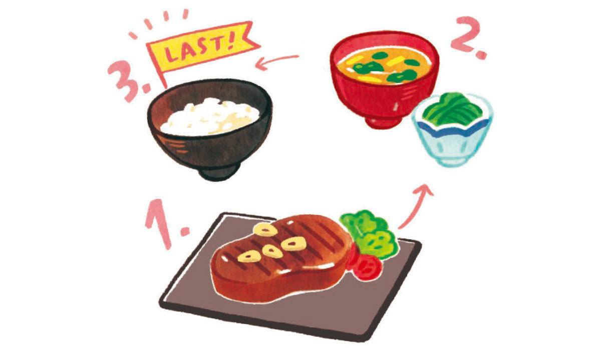 POINT① 食べ順は「炭水化物ラスト」で