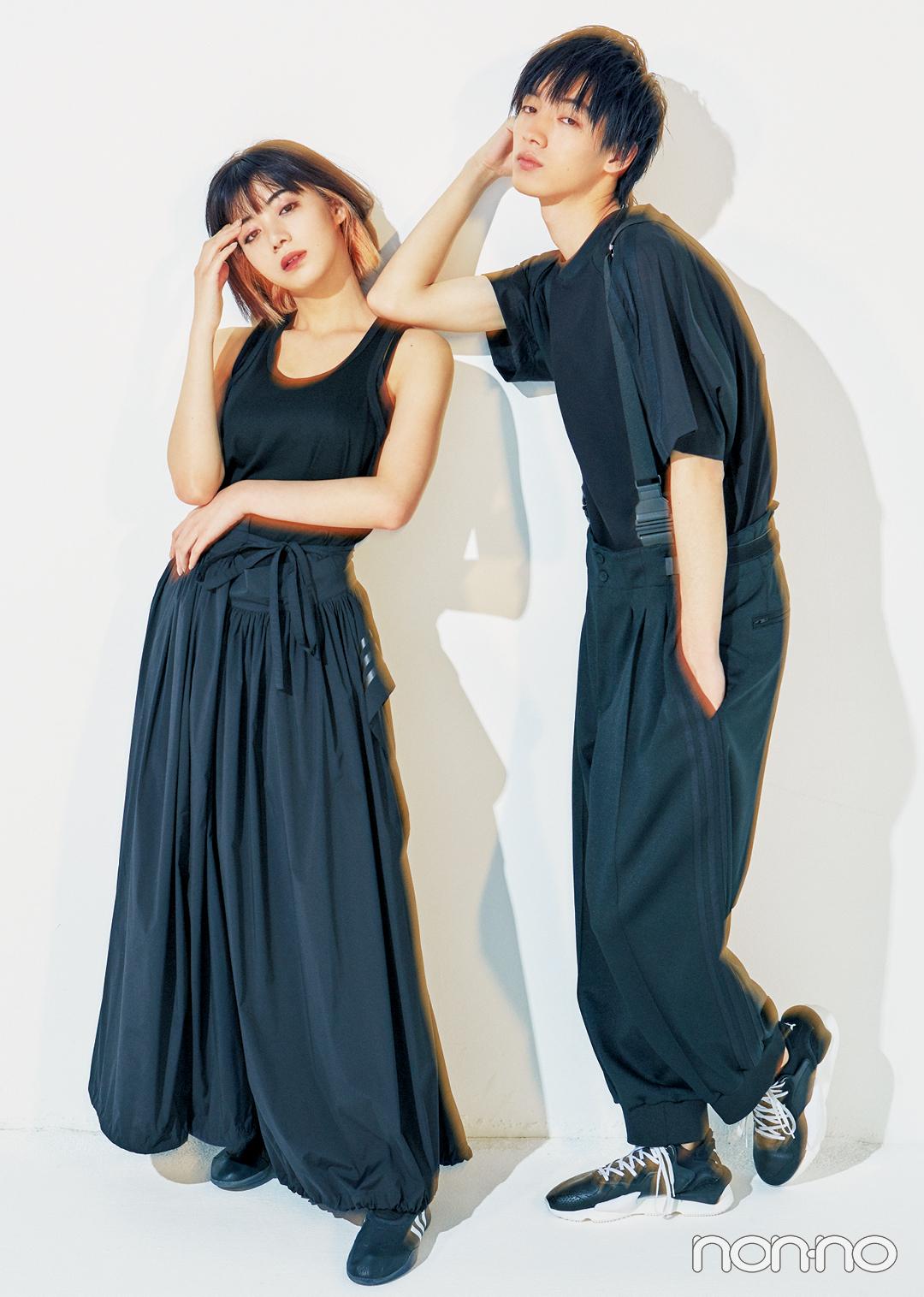 『貞子』で話題の池田エライザさんが、清水尋也さんと夏の黒でリンクコーデを披露!_1_2