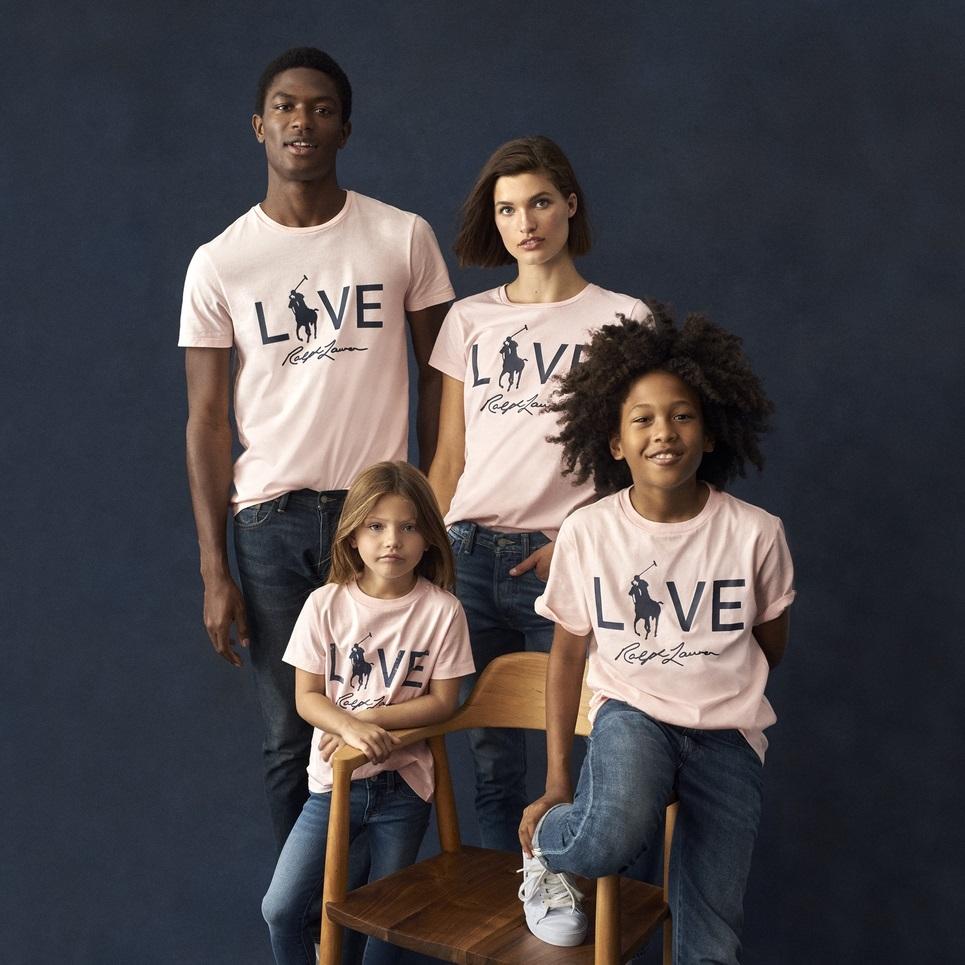 ラルフローレンのピンクポニー キャンペーン Live Love Tシャツ