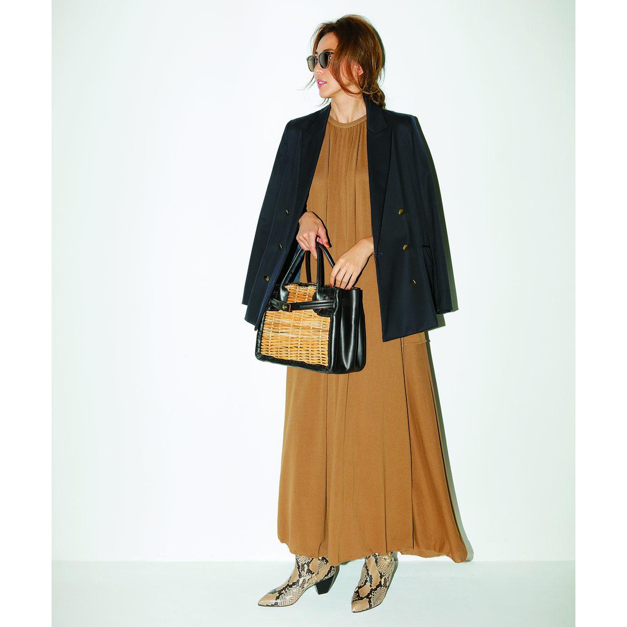 ジャケット×ワンピースのファッションコーデ