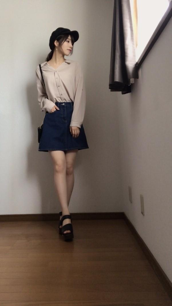 定番デニムスカートをシーン別に着回す!!_1_3